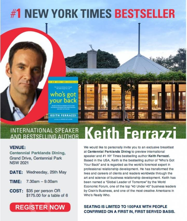 Keith Ferrazzi Showcase at Centennial Parklands Dining