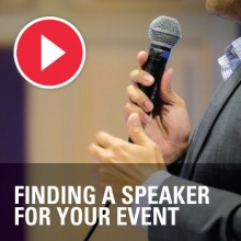 Top tips on finding and briefing a speaker for your event