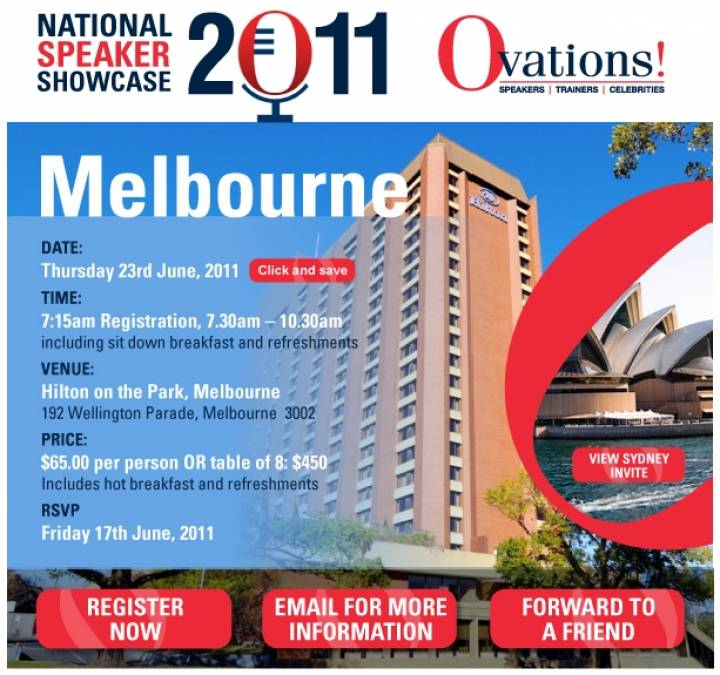 Melbourne National Speaker Showcase at the Hilton on the Park